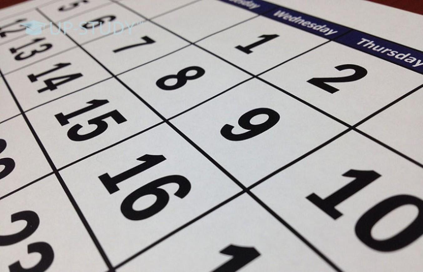 Календар навчального року університетів Польщі 2018/2019