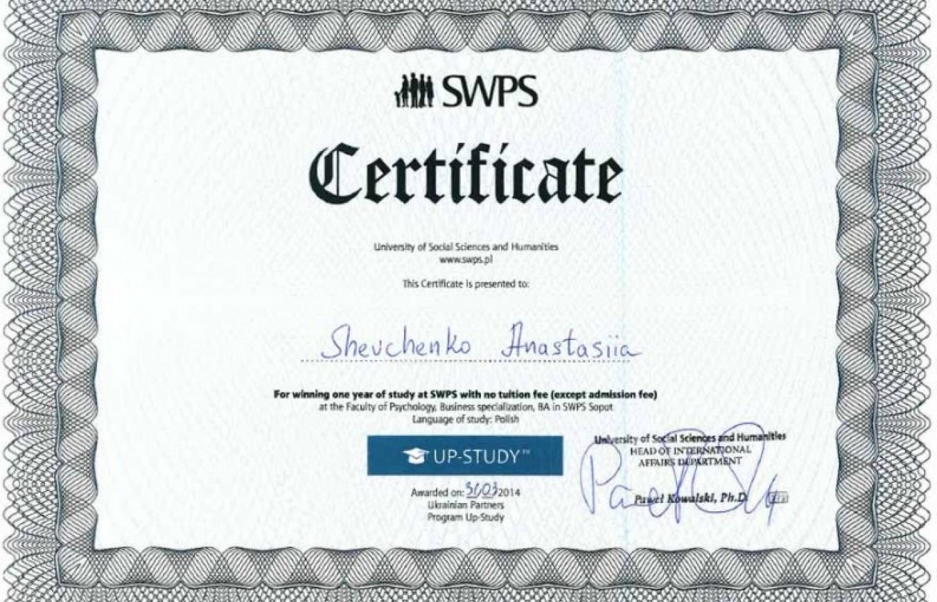 Результати розіграшу 3-ох грантів на безкоштовне навчання у SWPS (Вроцлав, Сопот, Познань)